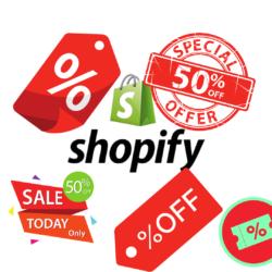 shopify configuração descontos e promoções